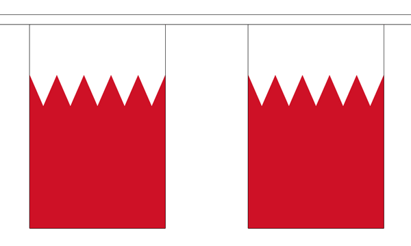 Bahrain Länderkette 3 m - 10 Flaggen á 15x22,5cm