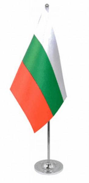 Bulgarien Tischfahne 22,5x15cm Satin
