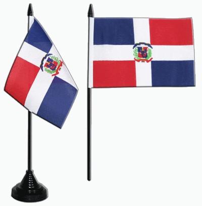 Dominikanische Republik Tischfahne 10x15cm