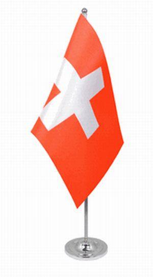 Schweiz Tischfahne 22,5x15cm Satin