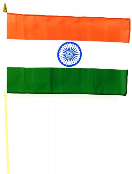 Indien Stockfahne 30cm x 45 cm