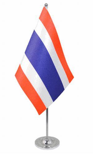 Thailand Tischfahne 22,5x15cm Satin