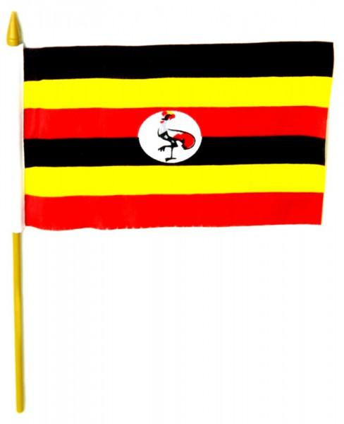 Uganda Tischfahne 10x15cm