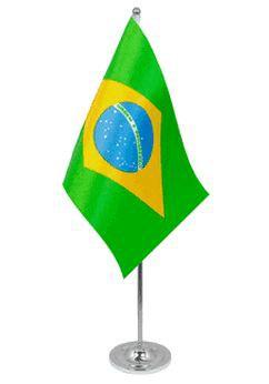 Brasilien Tischfahne 22,5x15cm Satin