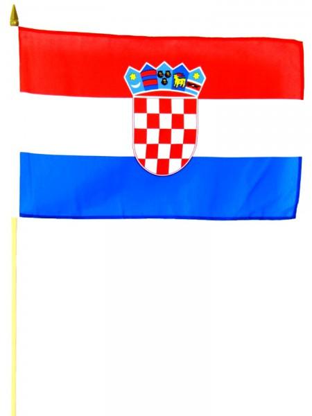 Kroatien Stockfahne 30 x 45 cm