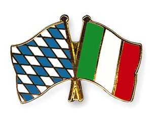 Bayern-Italien Freundschaftspin Flaggenpin