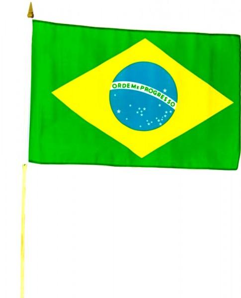 Brasilien Stockfahne 30cm x 45 cm