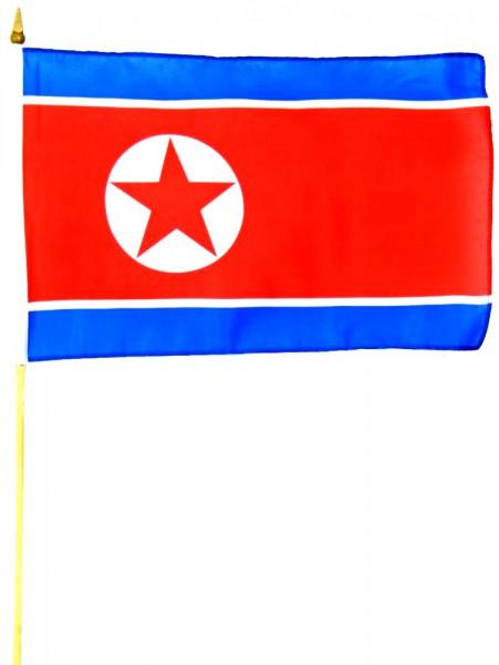 Nordkorea Stockfahne 30cm x 45 cm