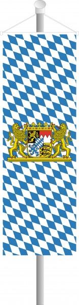 Bayern Bannerfahne Löwenwappen 52 x 120 cm