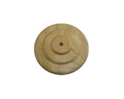 Tischsockel Fahnenaufsteller Holz 1 Loch - für Stockfahnen 30x45cm