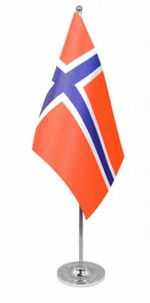 Norwegen Tischfahne 22,5x15cm Satin