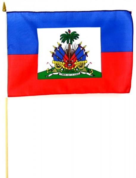Haiti Stockfahne 30cm x 45 cm