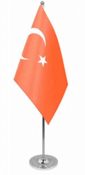 Türkei Tischfahne 22,5x15cm Satin