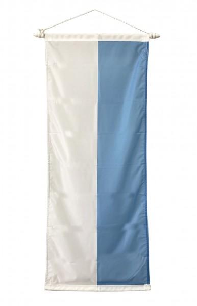 Bayerische Bannerfahne Weiß-Blau 90 x 200 cm