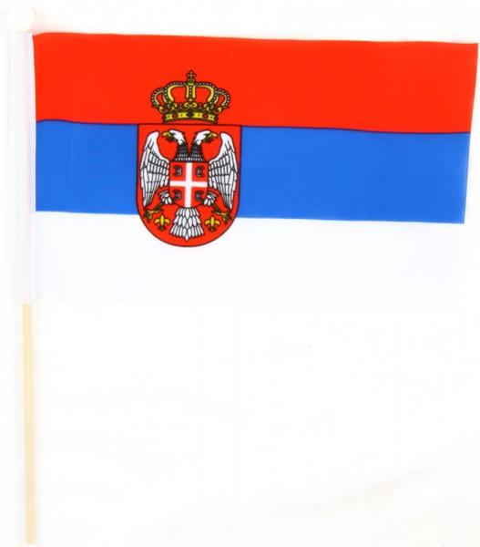 Serbien Tischfahne 22,5x15cm
