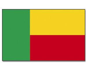Benin Stockfahne 30 x 45 cm