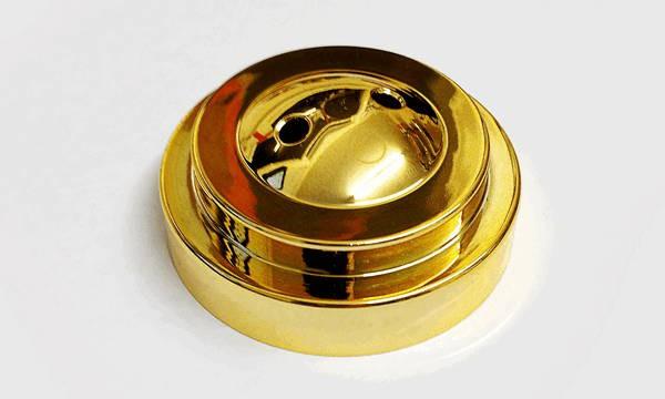 Tischsockel Gold für 2 Tischfahnen 10x15cm und 22x15cm