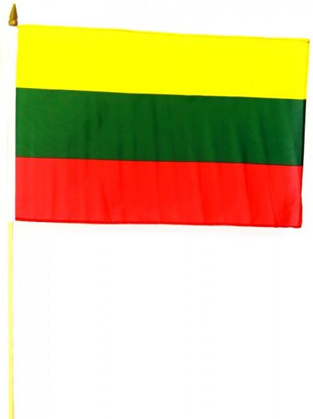 Litauen Stockfahne 30 x 45 cm