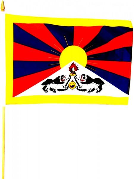 Tibet Stockfahne 30cm x 45 cm