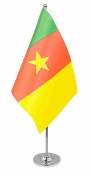 Kamerun Tischfahne 22,5x15cm Satin