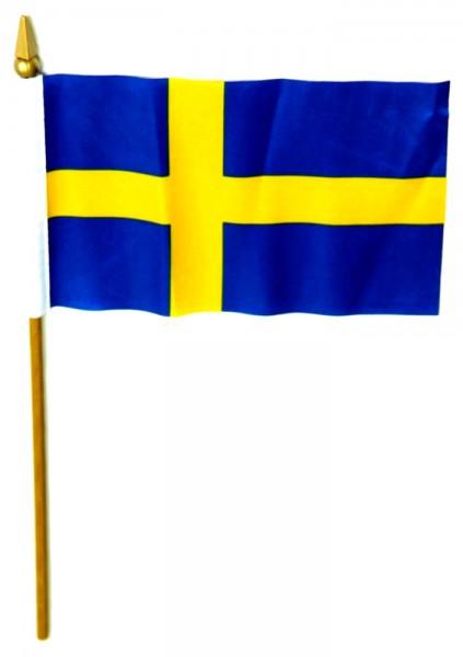 Schweden Tischfahne 10x15cm