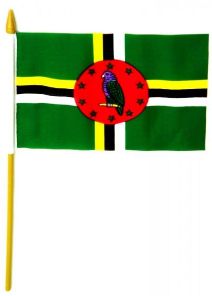 Dominica Tischfahne 10x15cm