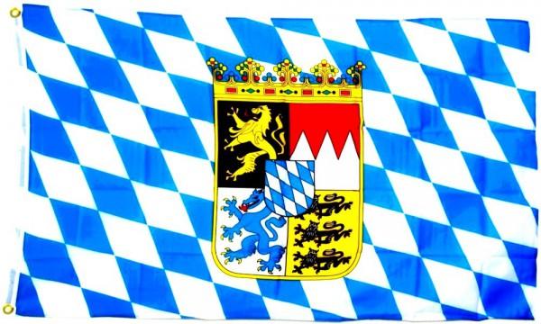 Bayern Flagge mit Wappen 60x90 cm
