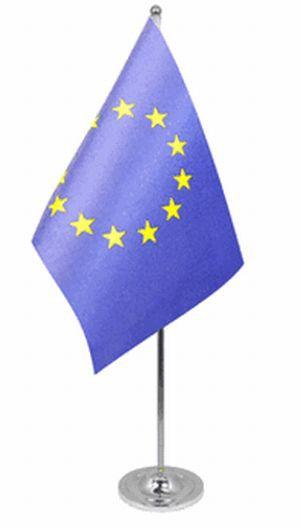 Europa Tischfahne 22,5x15cm Satin