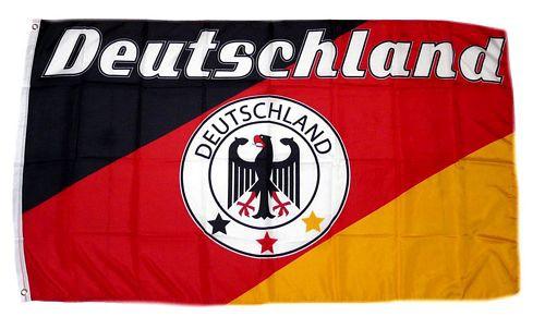 Deutschland Fan Flagge 90 x 150 cm Nr 11 - 3 Sterne