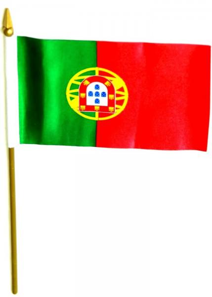 Portugal Tischfahne 10x15cm