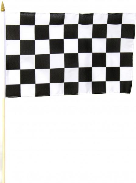 Start und Ziel Stockfahne 30cm x 45 cm