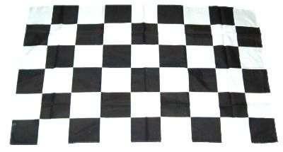 Karo weiss/schwarz 90x150cm Start/Ziel Flagge
