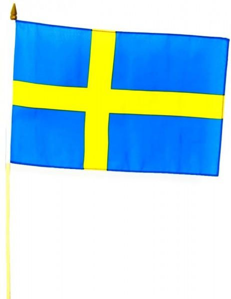 Schweden Stockfahne 30cm x 45cm