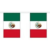 Mexiko Länderkette 3 m - 10 Flaggen á 15x22,5cm