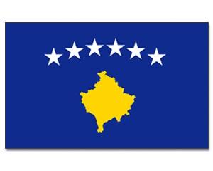 Kosovo Stockfahne 30cm x 45cm