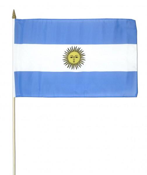 Argentinien Stockfahne 30cm x 45 cm