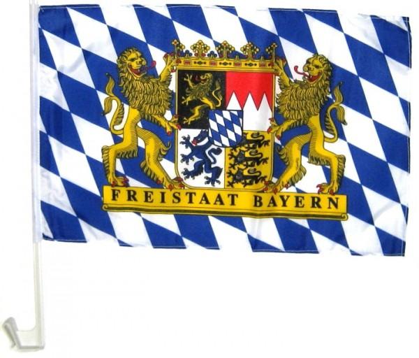 Bayern Autofahne Freistaat Bayern