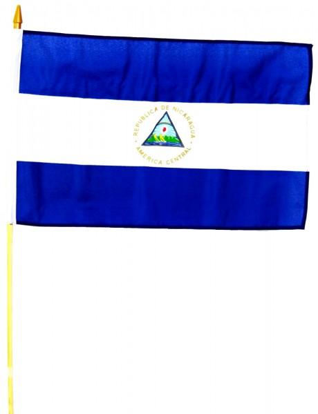 Nicaragua Stockfahne 30cm x 45 cm