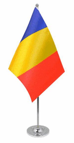 Rumänien Tischfahne 22,5x15cm Satin