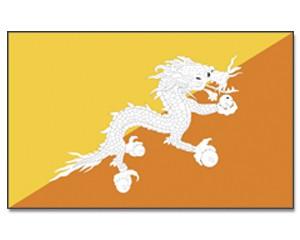 Bhutan Stockfahne 30cm x 45 cm