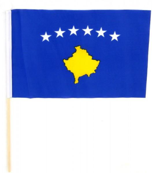 Kosovo Tischfahne 22,5x15cm
