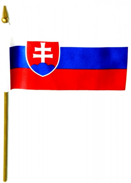 Slowakei Tischfahne 10x15cm
