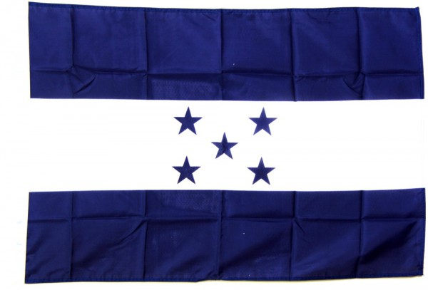 Honduras Hohlsaumflagge 60x90 cm