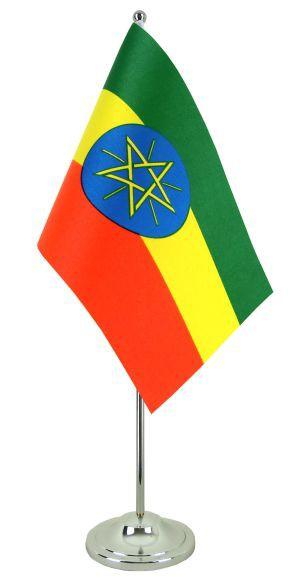 Äthiopien Tischfahne 22,5x15cm Satin