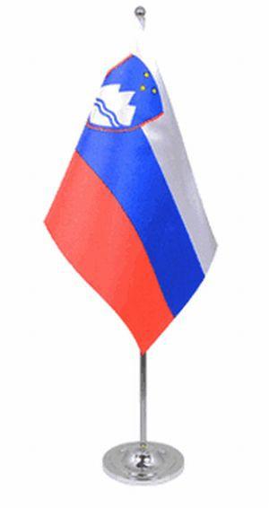 Slowenien Tischfahne 22,5x15cm Satin