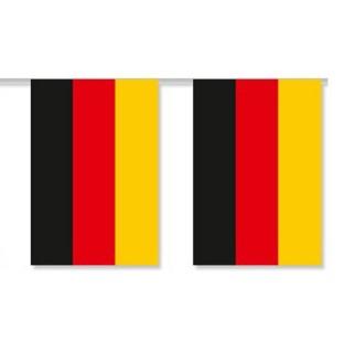 Deutschland Länderkette 3 m - 10 Flaggen á 15x22,5cm