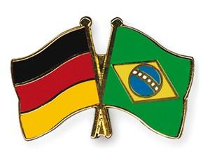 Deutschland-Brasilien-Freundschaftspin Flaggenpin