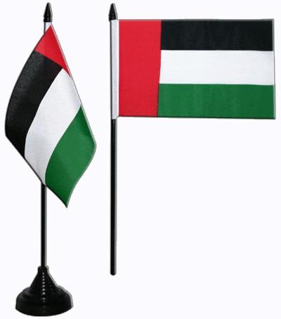 Vereinigte Arabische Emirate Tischfahne 10x15cm