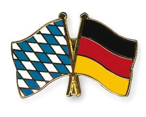 Bayern-Deutschland Freundschaftspin Flaggenpin
