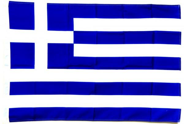 Griechenland Hohlsaumflagge 60x90 cm